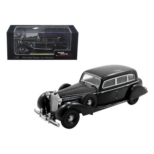 1938 Mercedes 770K Sedan Black 1/43 Diecast Car Model by Signature Models
