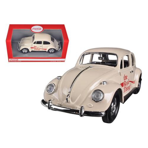 """1966 Volkswagen Beetle """"Coca Cola"""" The Real Thing 1/24 Diecast Car Model by Motorcity Classics"""