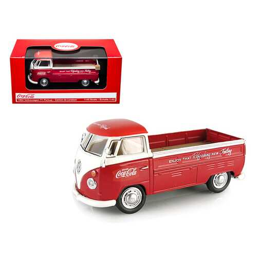 """1962 Volkswagen T1 Pickup Truck """"Coca-Cola"""" Red 1/43 Diecast Model Car by Motorcity Classics"""