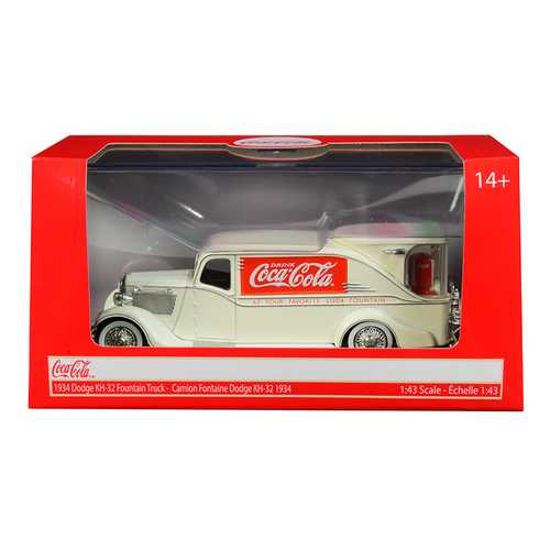 "1934 Dodge KH-32 Streamline Fountain Truck ""Coca-Cola"" Cream 1/43 Diecast Model Car by Motorcity Classics"