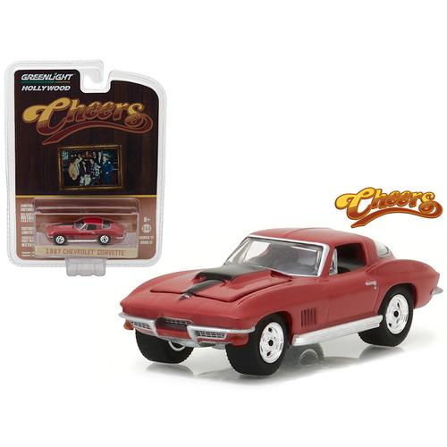 """1967 Chevrolet Corvette Sting Ray """"Cheers"""" (1982-93 TV Series) Hollywood Series 17 1/64 Diecast Model Car by Greenlight"""