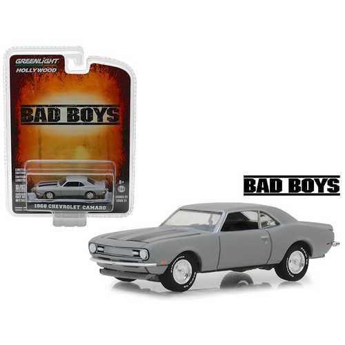 "1968 Chevrolet Camaro Gray ""Bad Boys"" (1995) Movie ""Hollywood"" Series 21 1/64 Diecast Model Car by Greenlight"