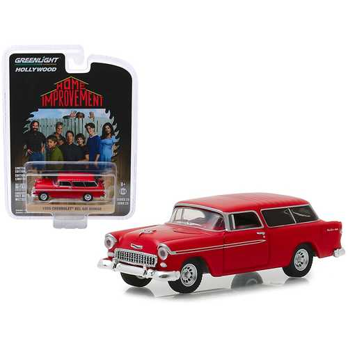 """1955 Chevrolet Bel Air Nomad Red """"Home Improvement"""" (1991-1999) TV Series """"Hollywood Series"""" Release 23 1/64 Diecast Model Car by Greenlight"""
