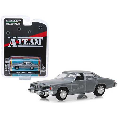 "1977 Pontiac LeMans Gray ""The A-Team"" (1983-1987) TV Series ""Hollywood Series"" Release 25 1/64 Diecast Model Car by Greenlight"