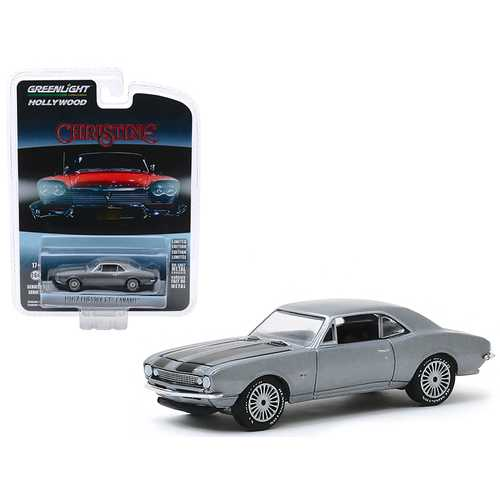 "1967 Chevrolet Camaro Gray Metallic with Black Stripes (Buddy Repperton's) ""Christine"" (1983) Movie ""Hollywood Series"" Release 27 1/64 Diecast Model Car by Greenlight"
