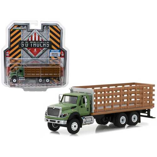 2018 International WorkStar Platform Stake Truck with Wood Effect S.D. Trucks Series 4 1/64 Diecast Model by Greenlight