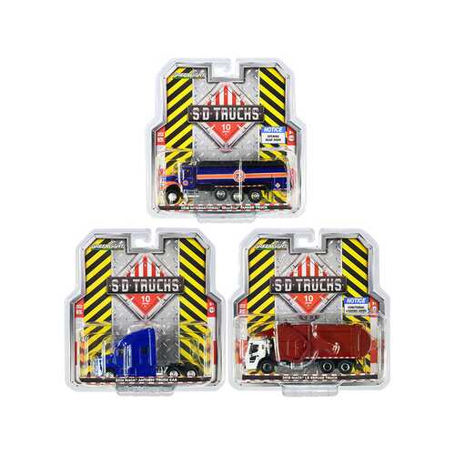 """S.D. Trucks"" 3 piece Set Series 10 1/64 Diecast Models by Greenlight"