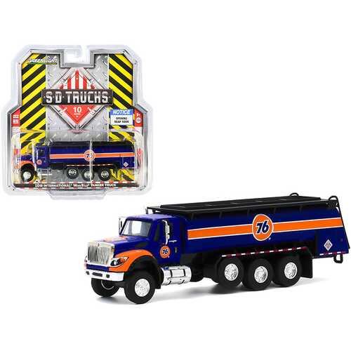 "2018 International WorkStar Tanker Truck ""Union 76"" Dark Blue and Orange ""S.D. Trucks"" Series 10 1/64 Diecast Model by Greenlight"
