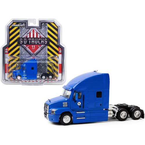 "2019 Mack Anthem Truck Cab #5 Blue ""S.D. Trucks"" Series 11 1/64 Diecast Model by Greenlight"