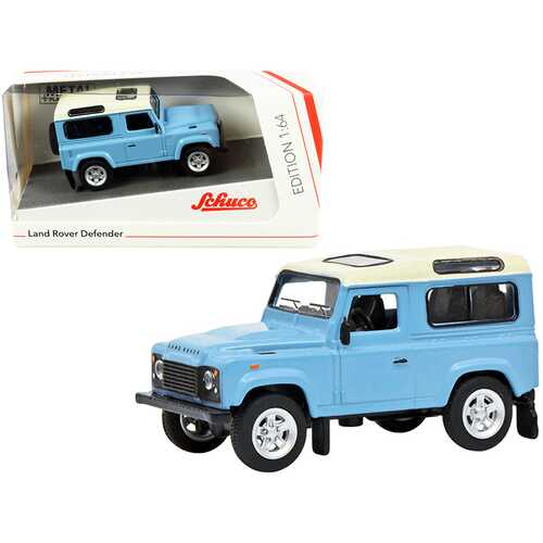 Land Rover Defender Light Blue with Cream Top 1/64 Diecast Model Car by Schuco