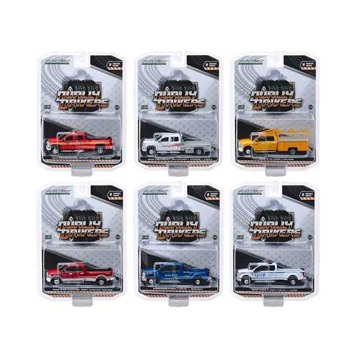 """Dually Drivers"" Series 2, Set of 6 Trucks 1/64 Diecast Model Cars by Greenlight"