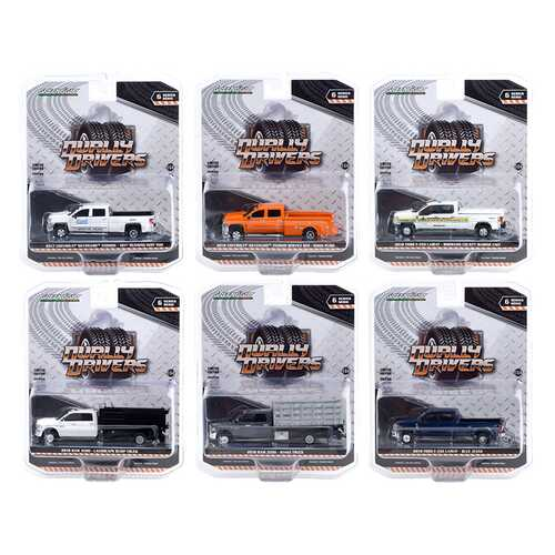 """""""Dually Drivers"""" Set of 6 Trucks Series 6 1/64 Diecast Model Cars by Greenlight"""
