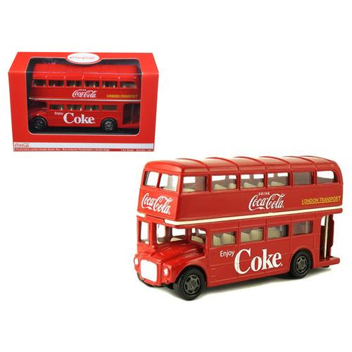 1960 Routemaster London Double Decker Bus Coca-Cola 1/60 Diecast Model by Motorcity Classics