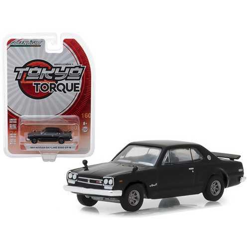 "1971 Nissan Skyline 2000 GT-R Black ""Tokyo Torque"" Series 3 1/64 Diecast Model Car by Greenlight"