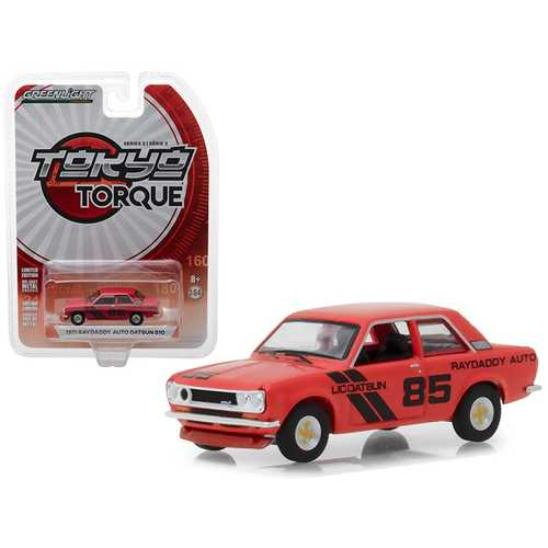 "1971 Datsun 510 ""Raydaddy Auto"" #85 ""Tokyo Torque"" Series 3 1/64 Diecast Model Car by Greenlight"