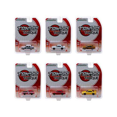 Tokyo Torque Series 4, Set of 6 Cars 1/64 Diecast Model Cars by Greenlight
