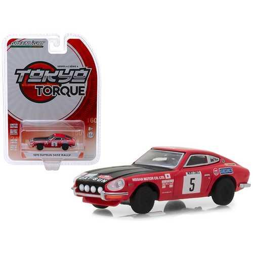 "1972 Datsun 240Z #5 Red with Black Hood ""Nissan Motor Co. Ltd."" Monte Carlo Rally ""Tokyo Torque"" Series 4 1/64 Diecast Model Car by Greenlight"