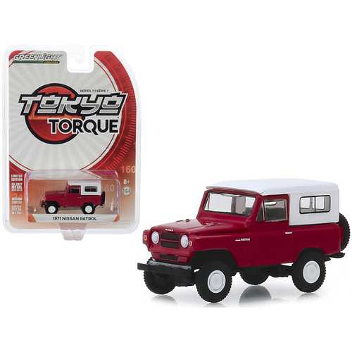 "1971 Nissan Patrol Red with White Top ""Tokyo Torque"" Series 7 1/64 Diecast Model Car by Greenlight"