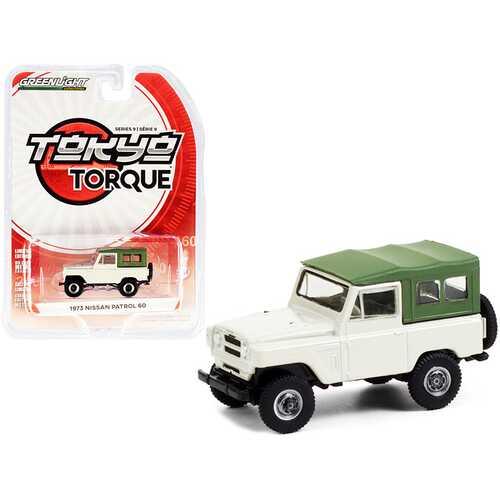 "1973 Nissan Patrol 60 Tan with Green Top ""Tokyo Torque"" Series 9 1/64 Diecast Model Car by Greenlight"