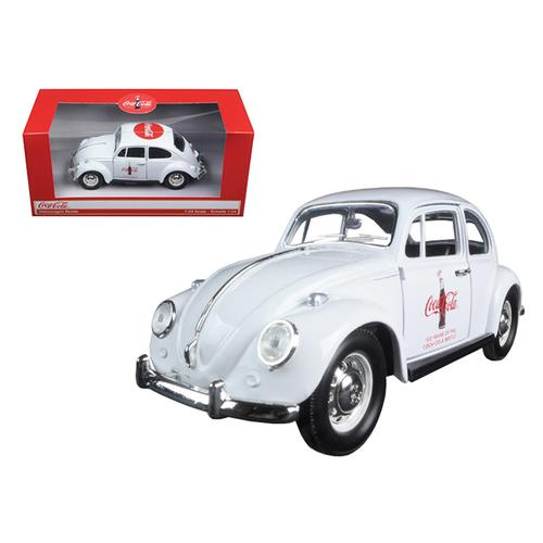 """1967 Volkswagen Beetle """"Celebrating 100 years of the Coca Cola Contour Bottle"""" 1/24 Diecast Model Car by Motorcity Classics"""