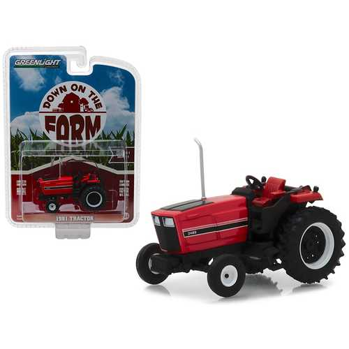 "1981 Tractor 3488 Red and Black ""Down on the Farm"" Series 1 1/64 Diecast Model by Greenlight"