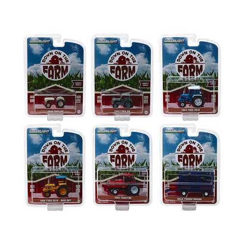 """Down on the Farm"" Series 2, Set of 6 pieces 1/64 Diecast Models by Greenlight"