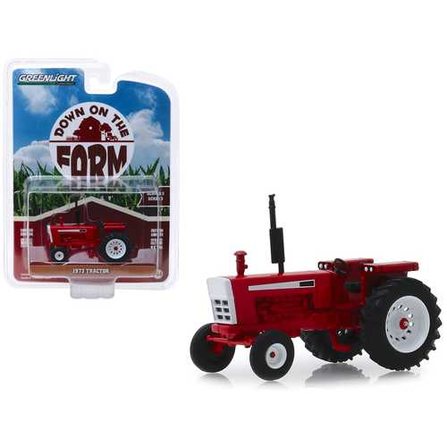 "1973 Tractor Red ""Down on the Farm"" Series 3 1/64 Diecast Model by Greenlight"