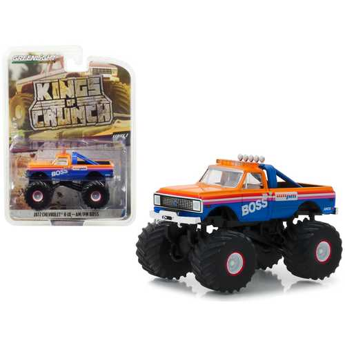 "1972 Chevrolet K-10 Monster Truck ""AM/PM Boss"" ""Kings of Crunch"" Series 3 1/64 Diecast Model Car by Greenlight"