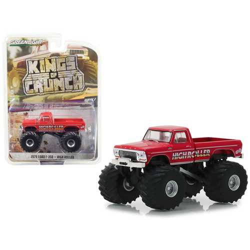 """1979 Ford F-350 Monster Truck """"High Roller"""" """"Kings of Crunch"""" Series 3 1/64 Diecast Model Car by Greenlight"""