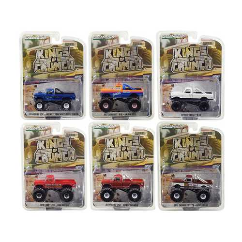 """Kings of Crunch"" Set of 6 Monster Trucks Series 3 1/64 Diecast Model Cars by Greenlight"
