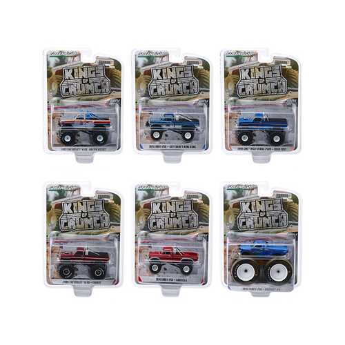 """Kings of Crunch"" Set of 6 Monster Trucks Series 6 1/64 Diecast Model Cars by Greenlight"