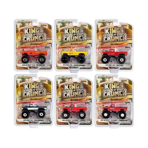 """Kings of Crunch"" Set of 6 Monster Trucks Series 8 1/64 Diecast Model Cars by Greenlight"