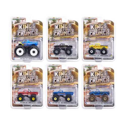 """Kings of Crunch"" Set of 6 Monster Trucks Series 9 1/64 Diecast Model Cars by Greenlight"