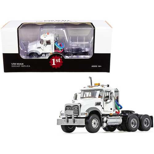 Mack Granite MP Engine Series Truck Tractor White 1/50 Diecast Model by First Gear