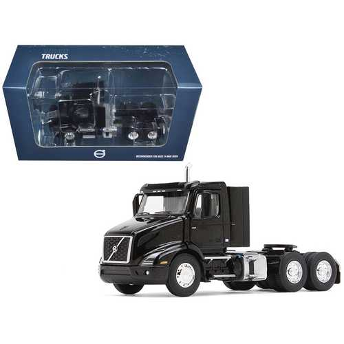 Volvo VNR 300 Day Cab Sable Black Metallic 1/50 Diecast Model Car by First Gear