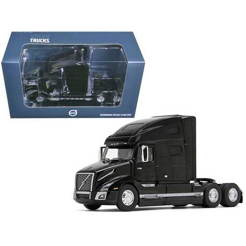 Volvo VNL 760 Sleeper Cab Sable Black Metallic 1/50 Diecast Model Car by First Gear