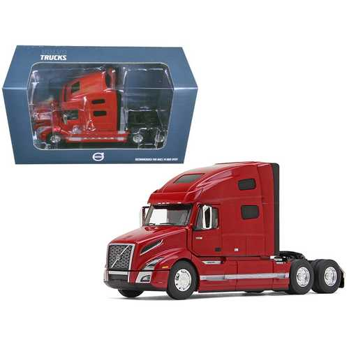 Volvo VNL 760 Sleeper Cab Cherry Bomb Red Metallic 1/50 Diecast Model Car by First Gear