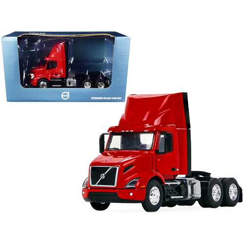Volvo VNR 300 Day Cab with Roof Fairing Truck Tractor Crossroad Red 1/50 Diecast Model by First Gear