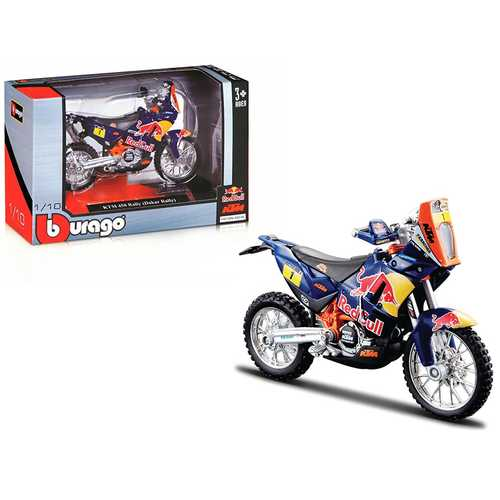 "KTM 450 Rally Dakar #1 ""Red Bull"" 1/18 Diecast Motorcycle Model by Bburago"
