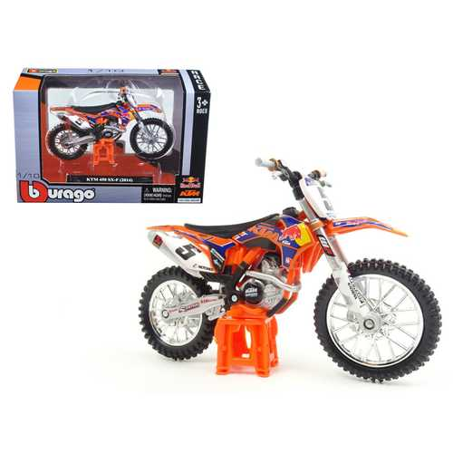 "2014 KTM 450 SX-F #5 Ryan Dungey ""Red Bull"" 1/18 Dirt Motorcycle Model by Bburago"