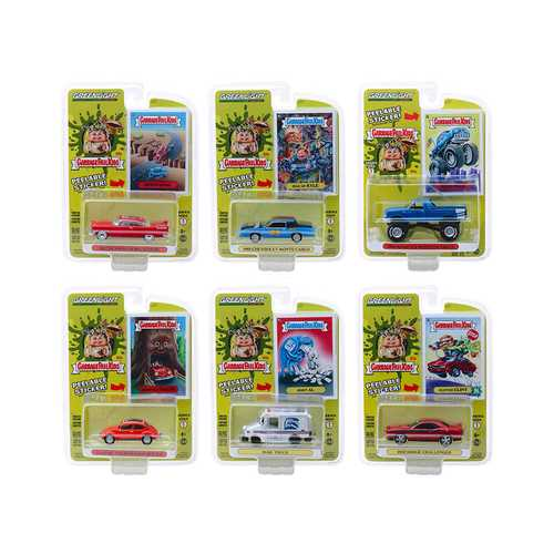 """Garbage Pail Kids"" Series 1, 6 piece Set 1/64 Diecast Model Cars by Greenlight"