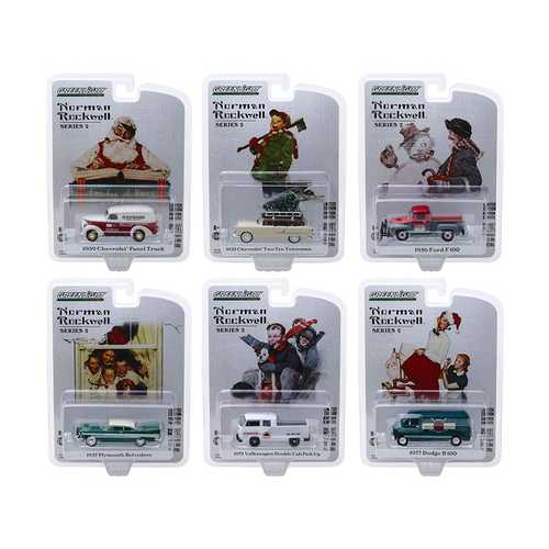 """""""Norman Rockwell"""" Series 2, Set of 6 pieces 1/64 Diecast Model Cars by Greenlight"""