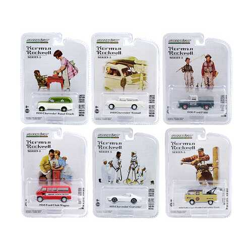 """""""Norman Rockwell"""" Set of 6 pieces Series 3 1/64 Diecast Model Cars by Greenlight"""
