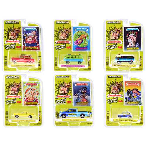 """""""Garbage Pail Kids"""" Set of 6 pieces Series 3 1/64 Diecast Model Cars by Greenlight"""