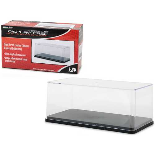 Collectible Display Show Case with Black Plastic Base for 1/24 Scale Models by Greenlight