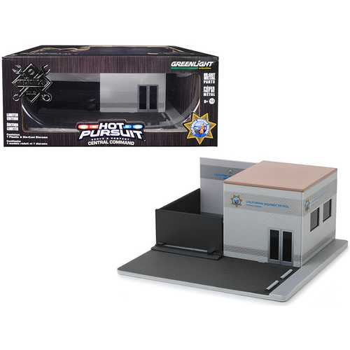 """Mechanic's Corner """"Hot Pursuit"""" Central Command """"California Highway Patrol"""" (CHP) Diorama for 1/64 Scale Models by Greenlight"""