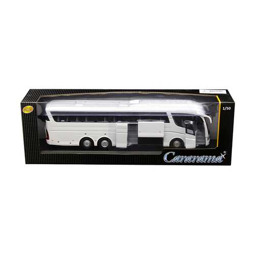 Scania Irizar Pb Bus White 1/50 Diecast Model by Cararama