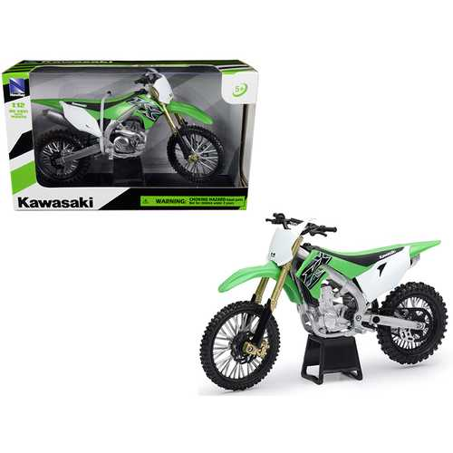 Kawasaki KX 450F Green 1/12 Diecast Motorcycle Model by New Ray