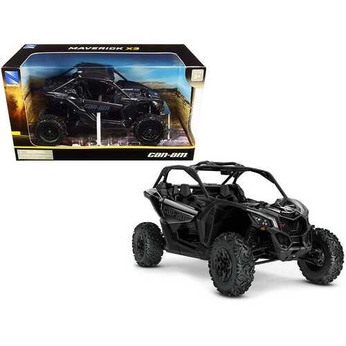 CAN-AM Maverick X3 ATV Triple Black 1/18 Diecast Model by New Ray
