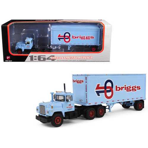 Mack R Model With 28' Pop Trailer Briggs Transportation 1/64 Diecast Model by First Gear